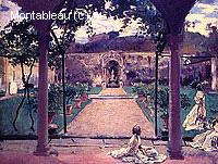 A Torre Galli, Dames dans un Jardin