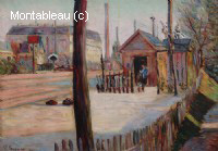 Aiguillage de lignes de chemin-de-fer près de Bois-Colombes