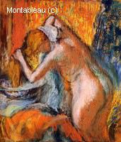 Après le Bain, Femme s'Essuyant les Cheveux