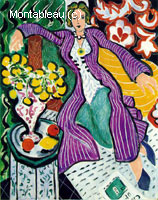 Femme au manteau violet