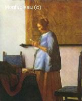 La femme en bleu lisant une lettre