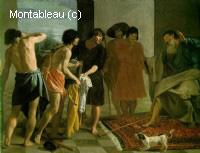 Jacob recevant la tunique de Joseph