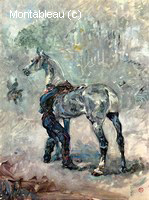 Artilleryman Sellant son Cheval