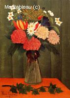 Bouquet de fleurs avec une branche de lierre