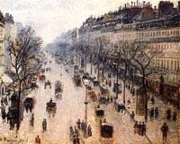 Le Boulevard Montmartre, Matin d'Hiver