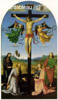 Crucifixion avec la Vierge Sts Mary, Mary Magdalen, John et Jerome