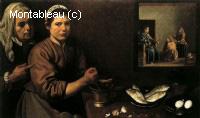 Christ dans la maison de Marthe et Marie