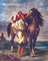 Arabe Sellant son Cheval