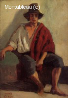 A Seated Italian from Paeigno Facing Front