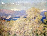 Antibes - vue des jardins de Salis