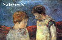 Aline Gauguin et un de ses Frères