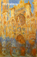 Cathédrale de Rouen en fin de journée, effet de lumière
