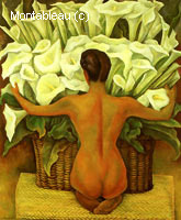 Nude with Calla Lilies