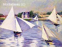 Voiliers sur la Seine à Argenteuil